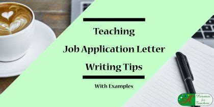 Sample application letter for undergraduate teacher